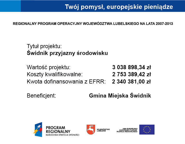 Tablica informacyjna dofinansowanie UE